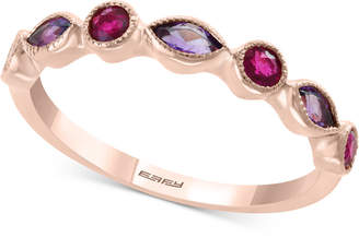 Effy Amethyst (1/4 ct. t.w.) and Ruby (1/4 ct. t.w.) Stackable Ring in 14k Rose Gold (Also available in Citrine with Peridot in 14k Yellow Gold)