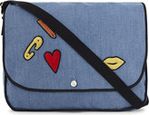 SONIA BY SONIA RYKIEL Badges cotton shoulder bag