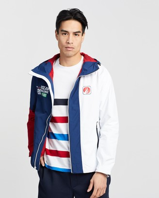 Nautica Lightweight Colourblocked Rainbreaker Jacket