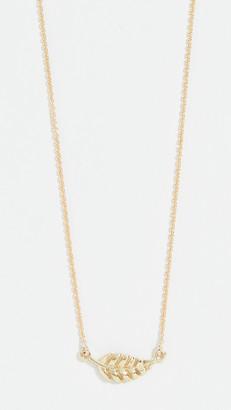 Jennifer Meyer 18k Gold Mini Leaf Necklace