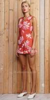 Greylin V-neck Jayme Floral Button Up Front Romper