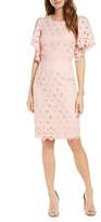 Rachel Parcell Eyelet Sheath Dress