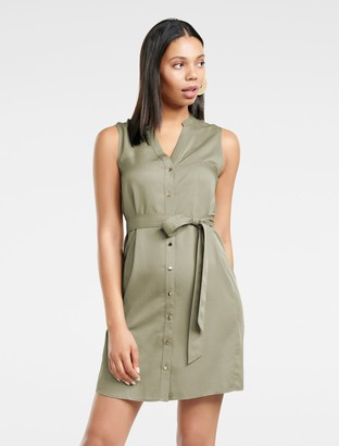 Forever New Harper Sleeveless Shirt Dress - Gentle Khaki - 10
