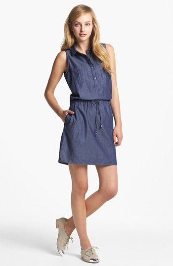 Vince Camuto Two by Sleeveless Chambray Shirtdress