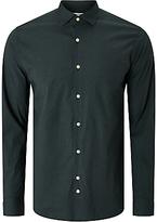 J. Lindeberg Daniel Season Stretch Cotton Patterned Shirt, Black