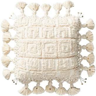 Anthropologie Home Tero Crochet Square Pillow