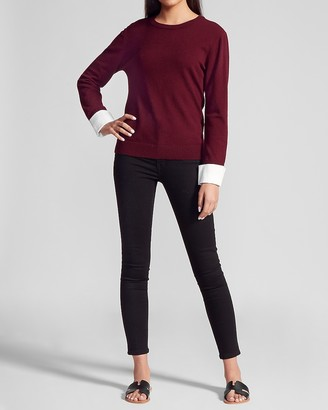 Express Bb Dakota Long Sleeve Pullover Sweater