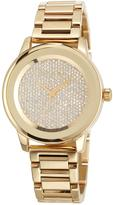 MICHAEL Michael Kors 42mm Kinley Glitz Bracelet Watch, Gold