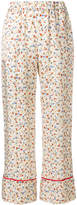Semi-Couture Semicouture wide leg floral trousers