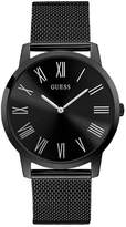 Guess Men's Black Stainless Steel Mesh Bracelet Watch