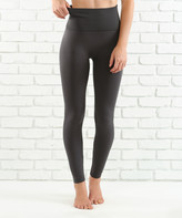 Contagious Women's Leggings CHARCOAL - Charcoal Tummy-Control High-Waist Tights - Women