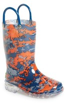 Western Chief Boy's Digital Camo Light-Up Rain Boot