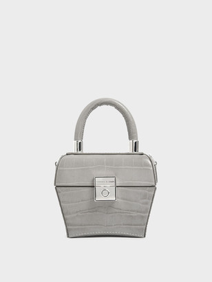 Charles & Keith Croc-Effect Mini Sculptural Bag