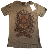 Balmain Khaki Cotton T-shirt