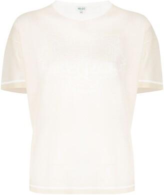 Kenzo tiger-jacquard knitted T-shirt