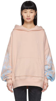 Amiri Pink Oversized Eternal Happiness Hoodie