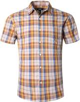 NUTEXROL Men's Short Sleeve Plaid Shirts