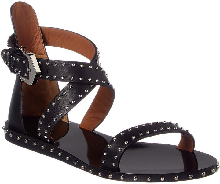 Givenchy Criss Cross Leather Sandal