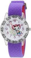 Disney Girl's 'Sheriff Callie' Quartz Plastic and Nylon Automatic Watch, Color:Purple (Model: W003081)