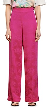 Sandro Hanoy Tone-On-Tone Abstract Print Pants