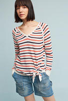 Shae Knotted & Striped Pullover