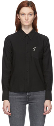 Ami Alexandre Mattiussi Black Ami De Coeur Pocket Shirt