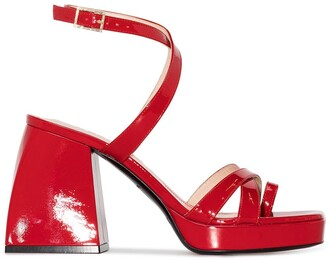 Nodaleto Chunky Block 85mm Heel Sandals