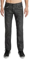 GUESS Lincoln Original Straight Jeans in Gunmetal Grey Solar Wash, 32 Inseam