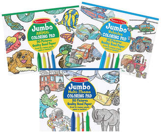 Melissa & Doug Melissa Doug Melissa Doug Jumbo Coloring Pad 3 - Pack Space, Sports, Animal, Vehicles