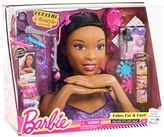 Mattel Barbie Deluxe Brown Hair Styling Head by