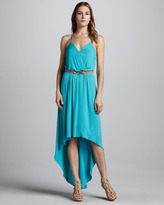 Milly Jade High-Low Maxi Dress