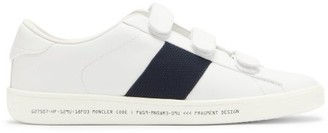 Moncler 7 Fragment - Stripe Leather Trainers - Mens - White