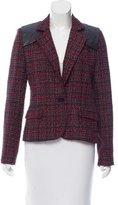 Torn By Ronny Kobo Notch-Lapel Tweed Blazer