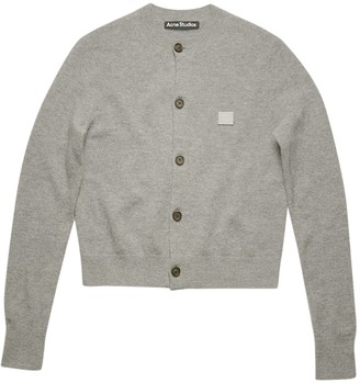 Acne Studios Grey Melange Wool Cardigan