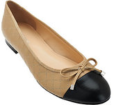 Marc Fisher As Is Leather Quilted Ballet Flats - Jodianne