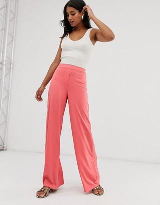 UNIQUE21 wide leg pants-Pink