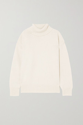 Extreme Cashmere N20 Oversize Xtra Cashmere-blend Turtleneck Sweater - Cream