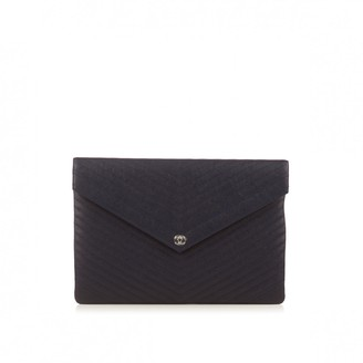 Chanel Navy Leather Clutch bags