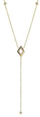 Anzie Cleo Hollow Rhombus Y-Necklace Gold