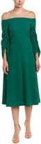 Tibi Off-The-Shoulder A-Line Dress
