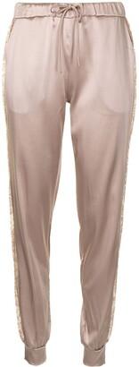 Carine Gilson Drawstring Silk Trousers