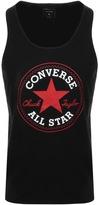 Converse Logo Vest T Shirt Black