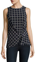 MICHAEL Michael Kors Printed Mock-Wrap Top