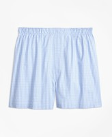 Brooks Brothers Traditional Fit Split Ground Check Boxers
