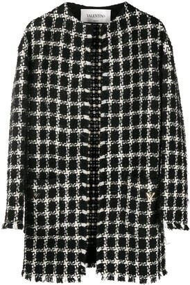 Valentino tweed checkered VGOLD coat