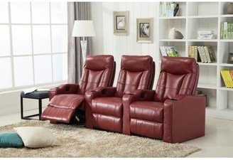 Latitude Run Home Theater Sofa Upholstery Color: Red