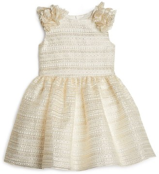 David Charles Gold Tulle Floral Dress (4-10 Years)