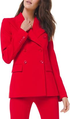 Michael Kors Double-Breasted Wool-Blend Blazer