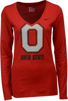 Nike Women's Long-Sleeve Ohio State Buckeyes Logo T-Shirt