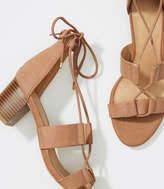 LOFT Lace Up Block Heel Sandals